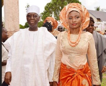 Tony Anenih and young wife